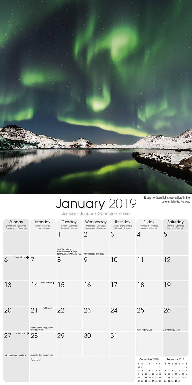 Buy. Northern Lights Wall Calendar ...