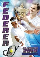 Roger Federer Celebrity Wall Calendar 2019