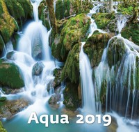 Aqua Wall Calendar 2019 by Helma