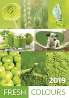 Fresh Colours Wall Calendar 2019 by Helma