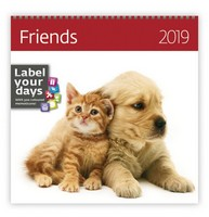 Friends Wall Calendar 2019 by Helma