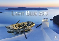 Light Blue Wall Calendar 2019 by Helma