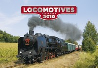 Locomotives Wall Calendar 2019 by Helma