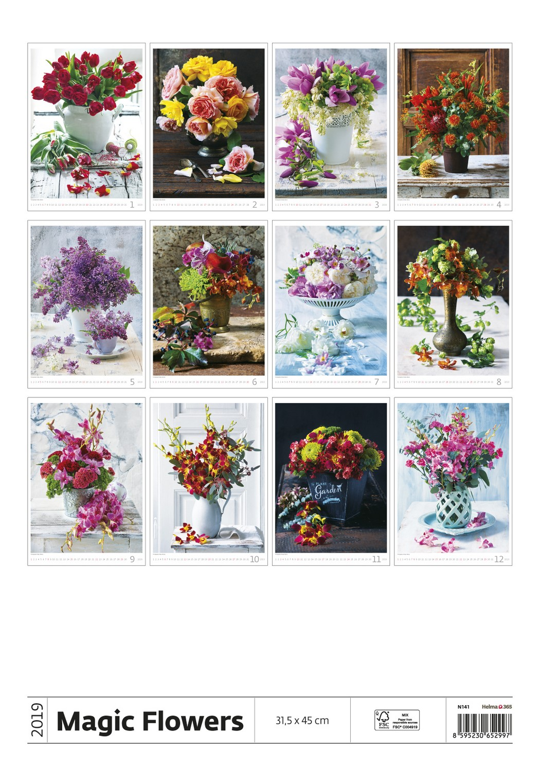 Magic Flowers Calendar 2019 Flower Calendar