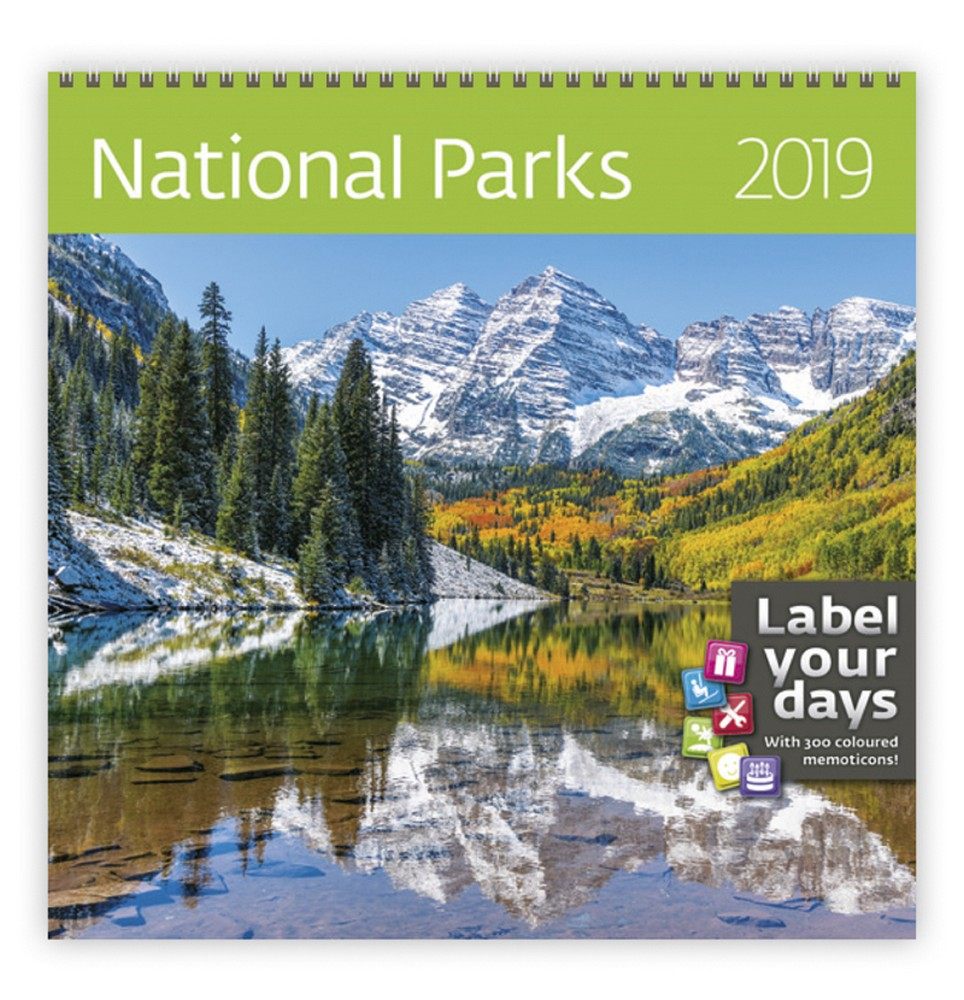 National Parks Wall Calendar 2019 By Helma