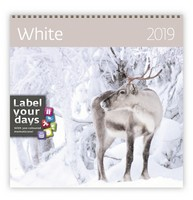 White Wall Calendar 2019 by Helma