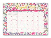 Bold Blossoms Decorative Desk Calendars 2019 by Orange Circle Studio
