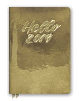 Hello Gold Leatheresque Medium Weekly Agenda 2019 by Orange Circle Studio