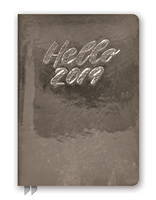 Hello Metallic Gunmetal Leatheresque Medium Weekly Agenda 2019 by Orange Circle Studio