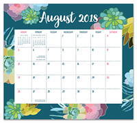 Succulent Paradise Magnetic Monthly Pad 2019 by Orange Circle Studio