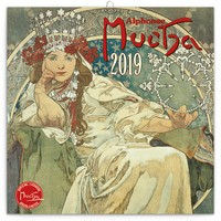 Alphonse Mucha Wall Calendar 2019 by Presco Group