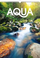 Aqua Wall Calendar 2019 by Presco Group