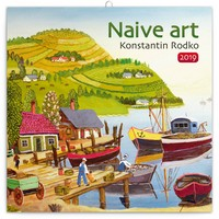 Naive Art by Konstantin Rodko Wall Calendar 2019 by Presco Group
