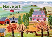 Naive Art by Konstantin Rodko Poster Calendar 2019 by Presco Group