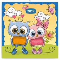 Wise Owl Family Calendar 2019 by Presco Group